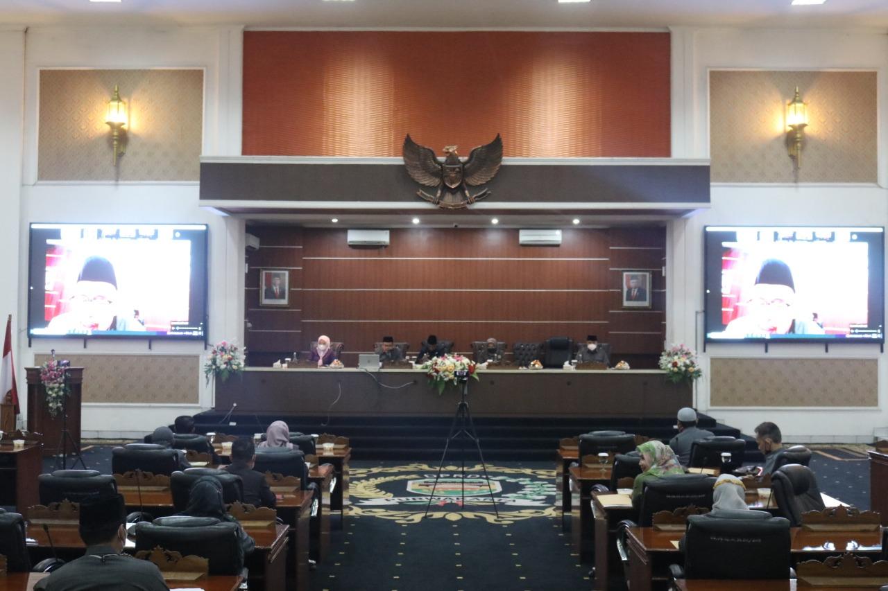 Ketua DPRD Pimpin Rapat Paripurna Tingkat 2 PPA Kabupaten Purwakarta TA 2020
