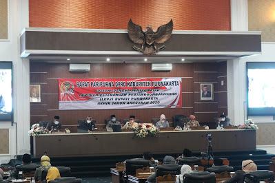 Bupati Sampaikan LKPJ Dalam Rapat Paripurna DPRD